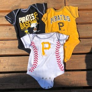 Pittsburgh Pirates BUNDLE 0-3 graphic onesie